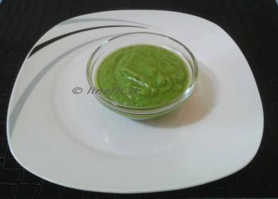 Salsa di zucchine e piselli