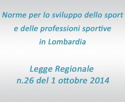 Legge Regionale sullo sport in Lombardia
